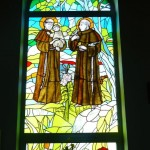 Witraż św. Franciszka z Asyżu i Antoniego z Padwy